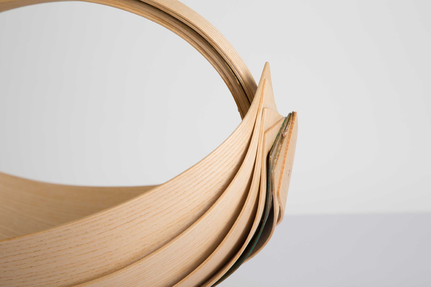 Steam-bent basket by Jane Crisp