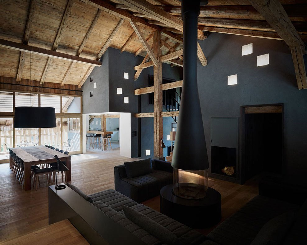 conversion of an old farmhouse into a rental luxury villa in Morzine, France