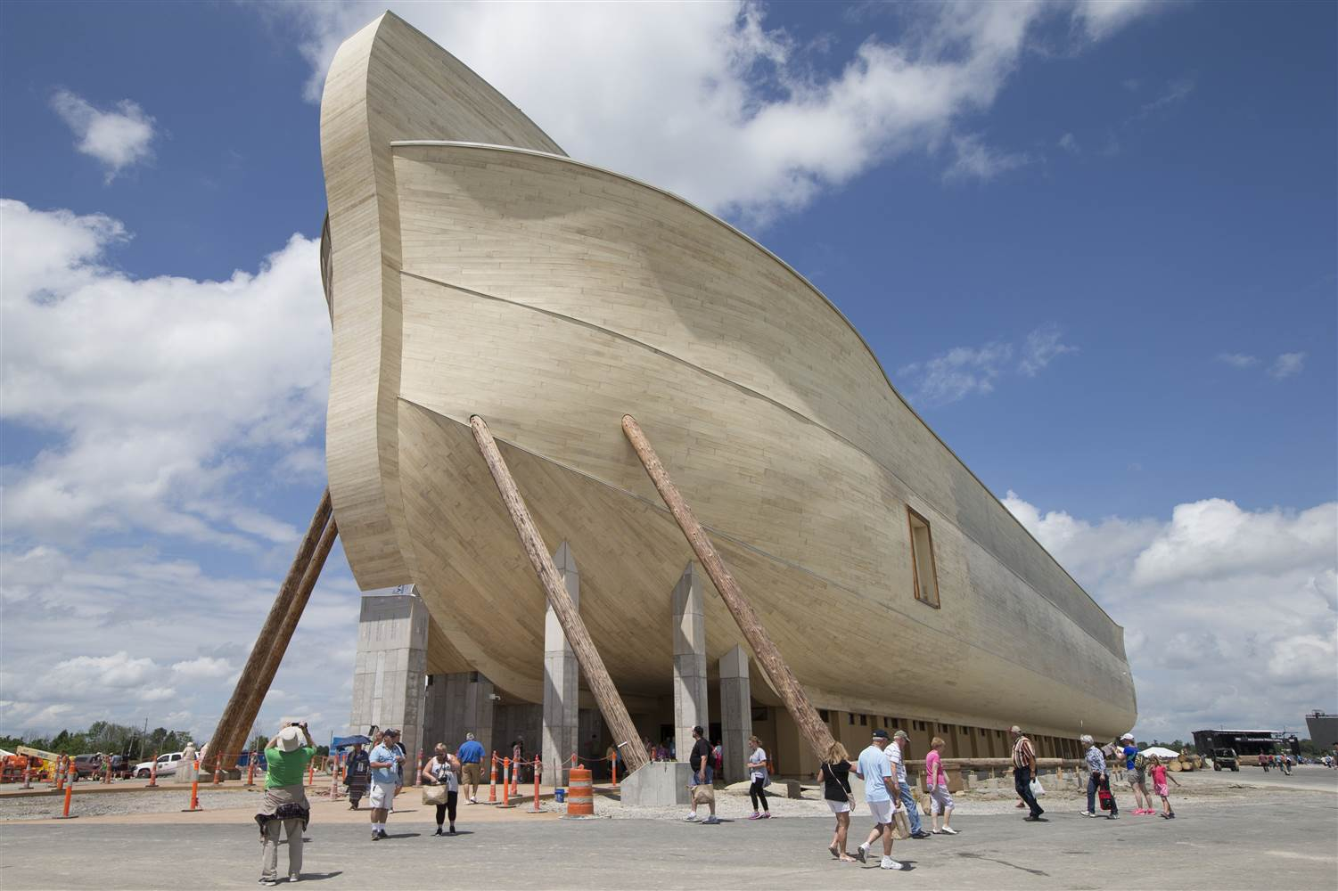 The creationist ministry Answers in Genesis have cut the ribbon on a 510-foot-long (155 meters) Noah's ark replica which cost ...