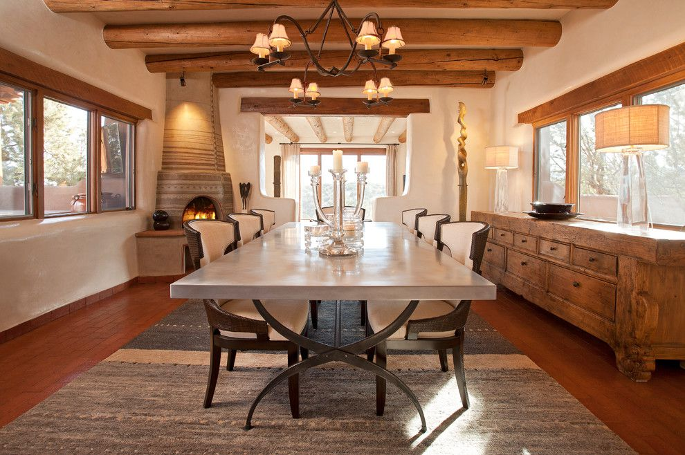 dining room emphasizing wooden interior design with solid wood massive drawer