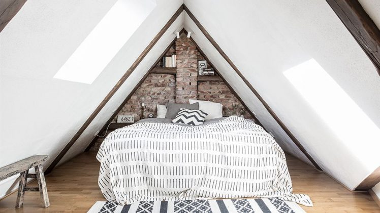 The Scandinavian style apartment, built in 1873, has an area of 68 m2 and consists of two floors with massive ...
