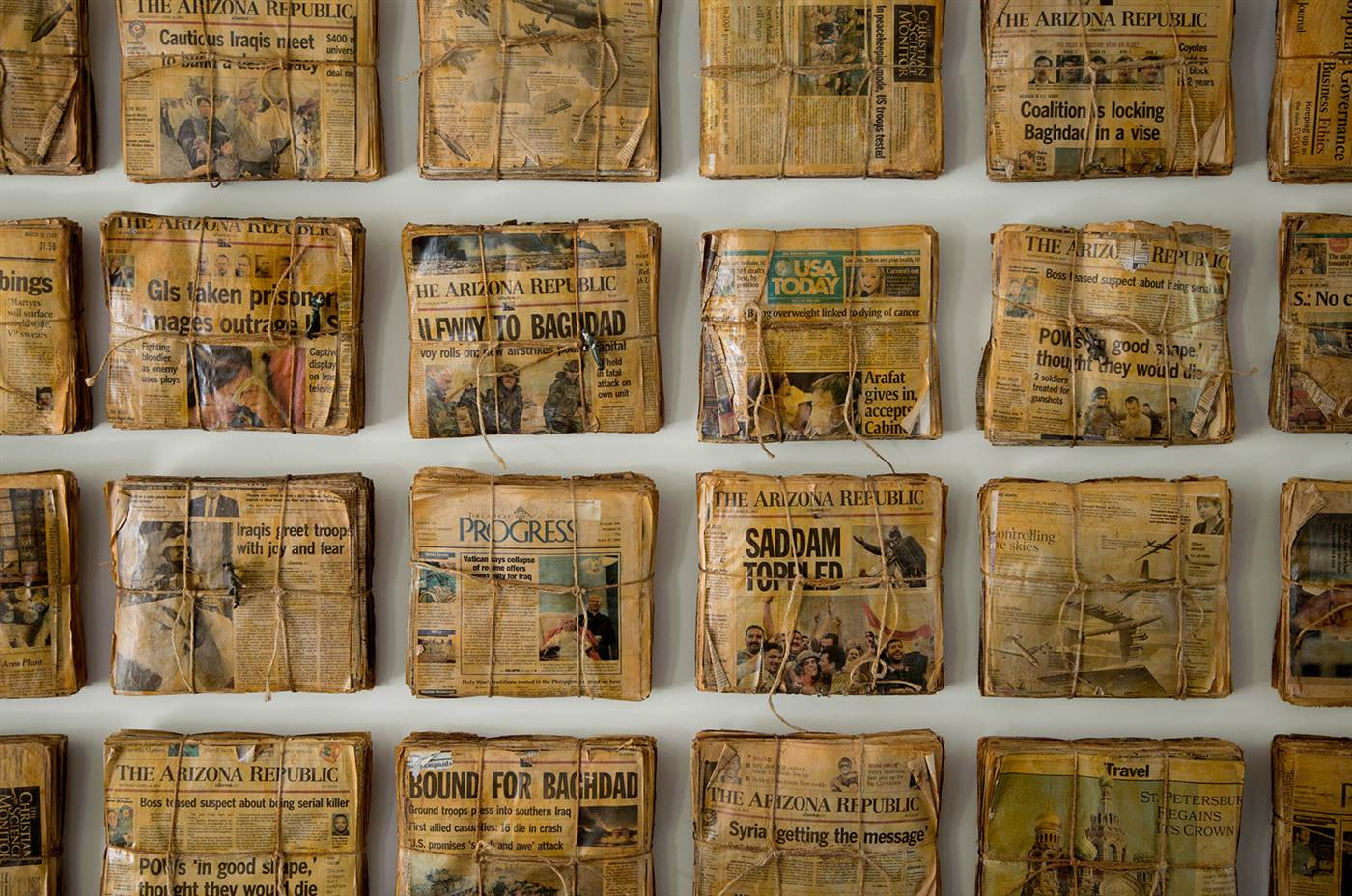 personal art collection of old newspaper