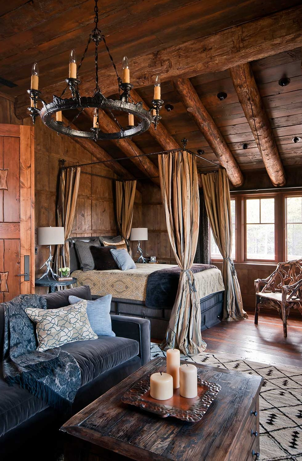 wood floor, wall and ceiling, bedroom design ideas