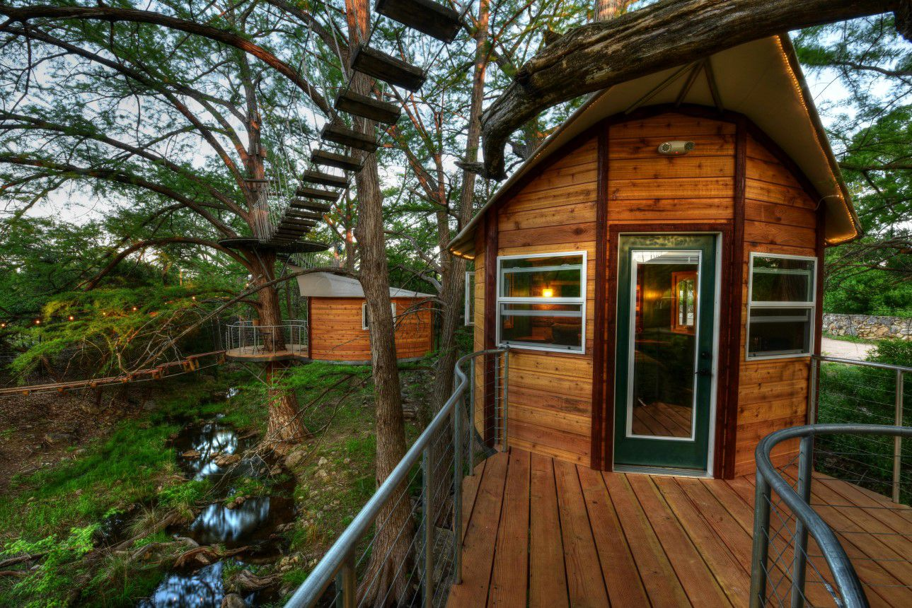 Super cute treehouses by near Austin, Texas are a great release for all who appreciate living in nature. The structure ...