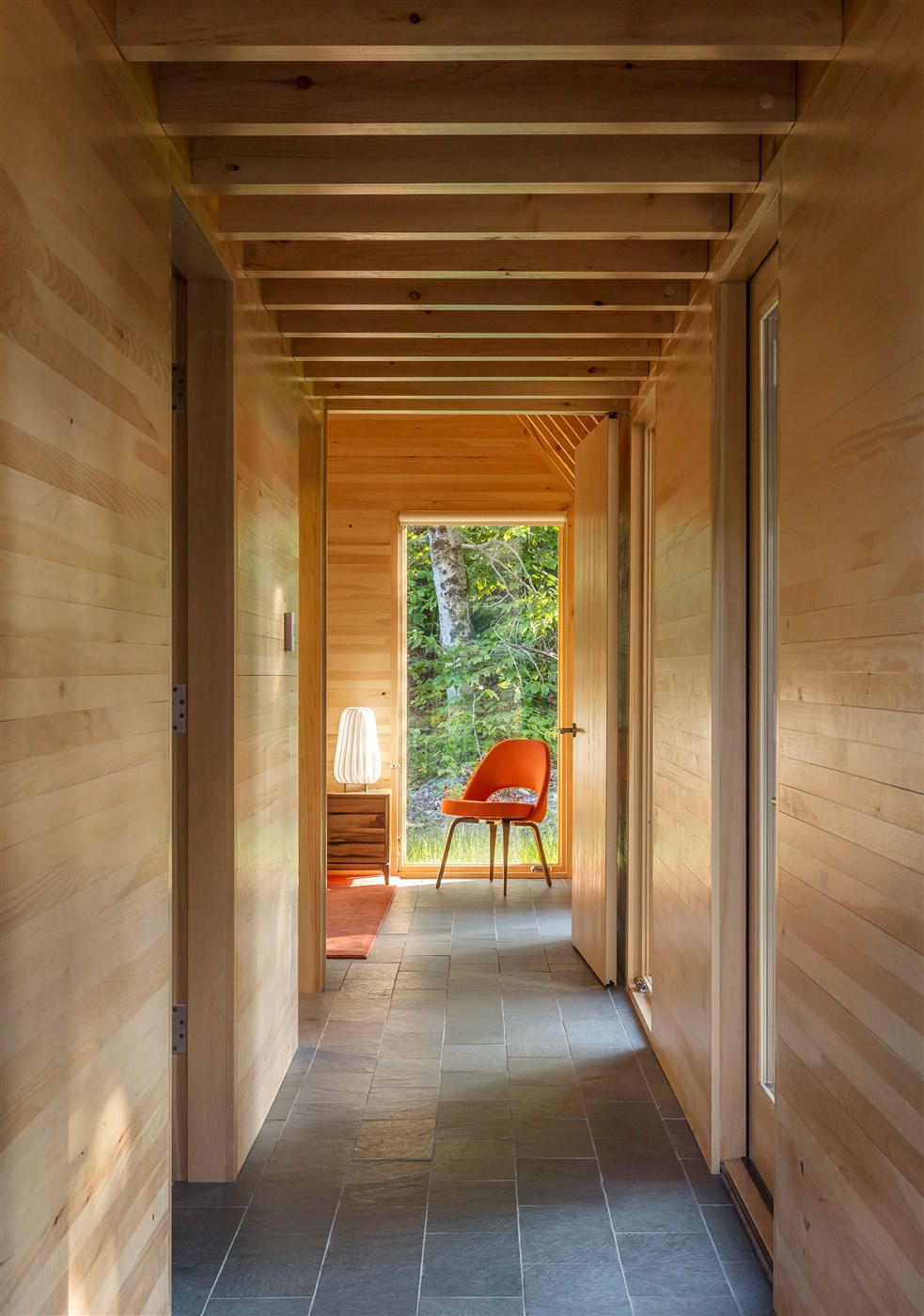 wood hallway design ideas