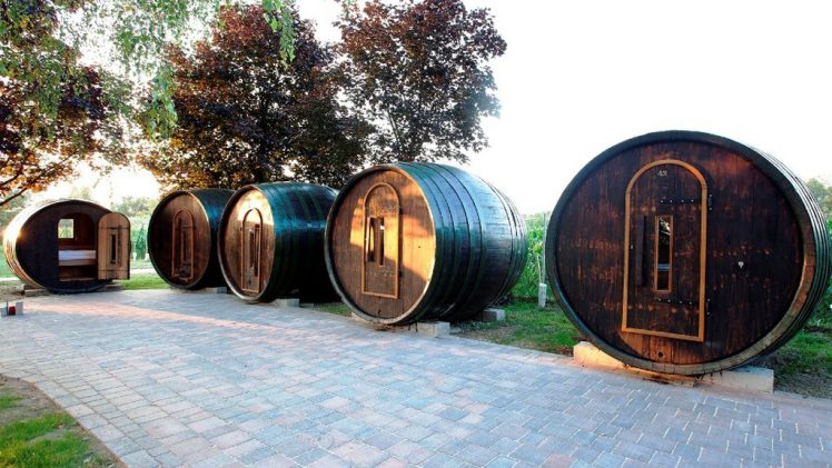 Adventure camping in wine barrels is now possible in Ptuj, Slovenia. Thermal spa Ptuj in the Wine village offering a ...