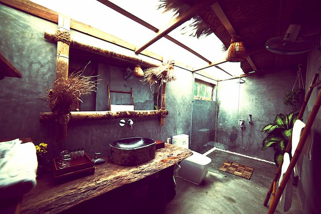 wood bathroom design ideas, cabins