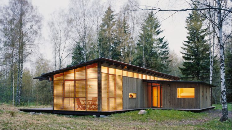 This vacation home is suitable for seasonal nature of Scandinavian life as in the central core of the house owners ...