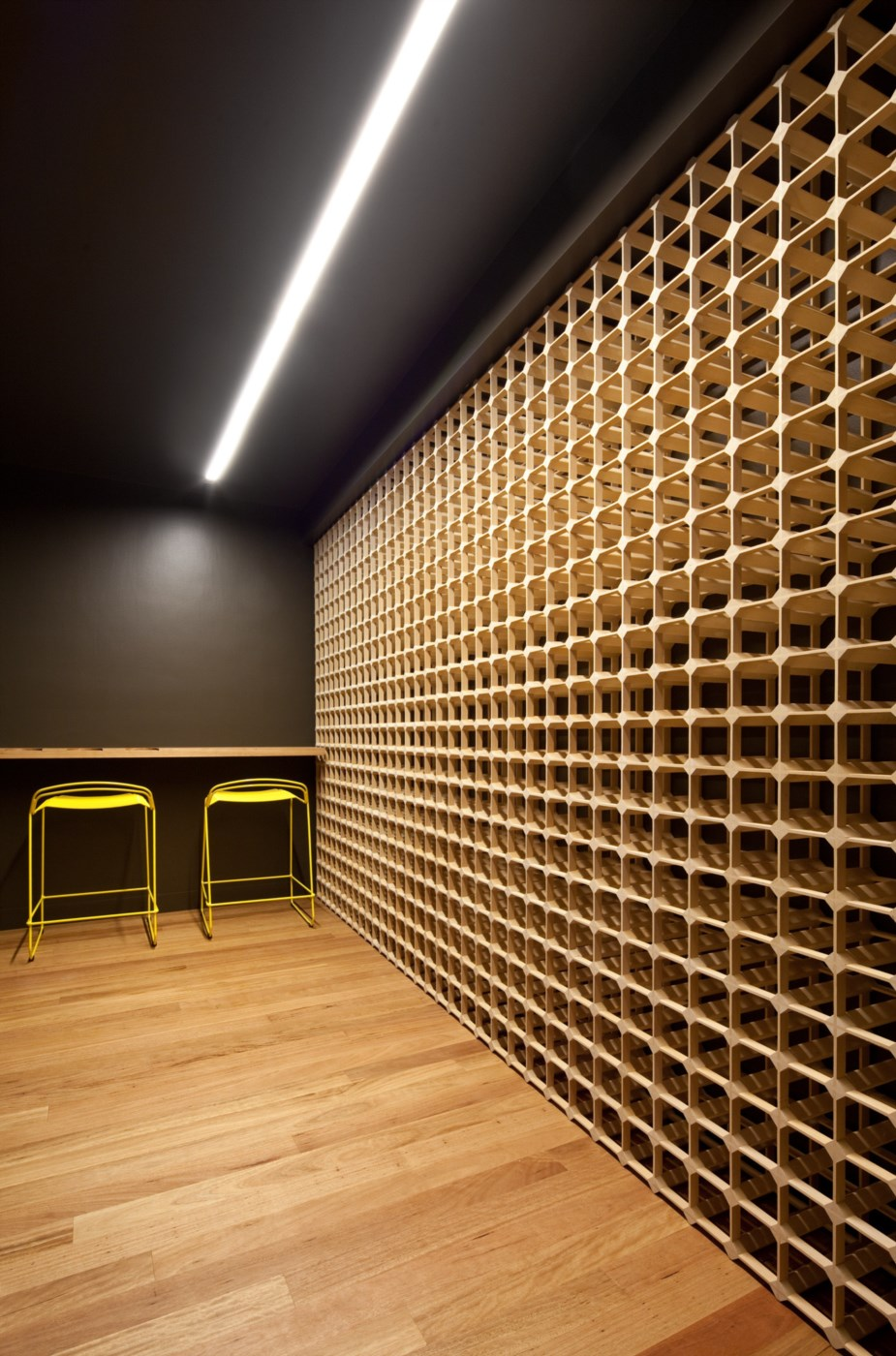 wooden timber interior, wineroom with wood flooring