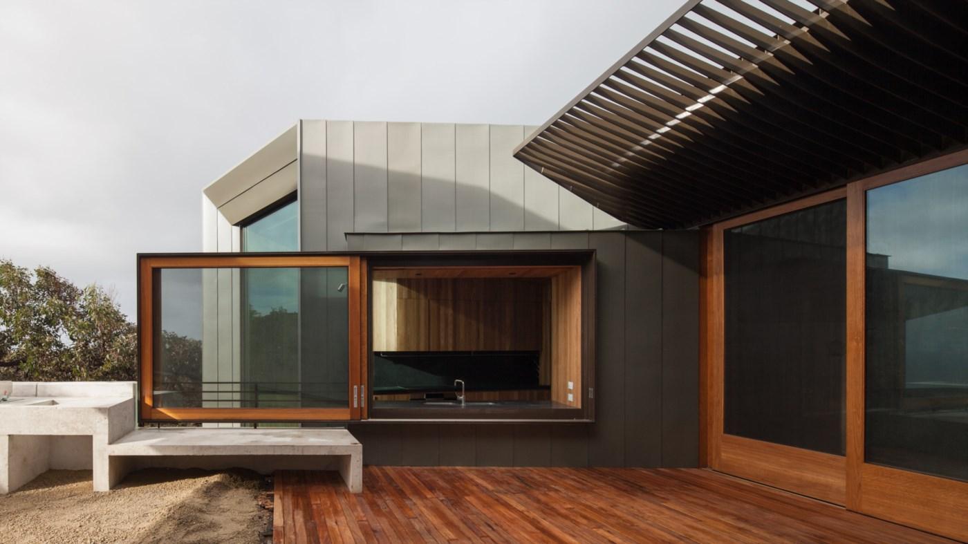 porch wooden floor deck on modern terrace
