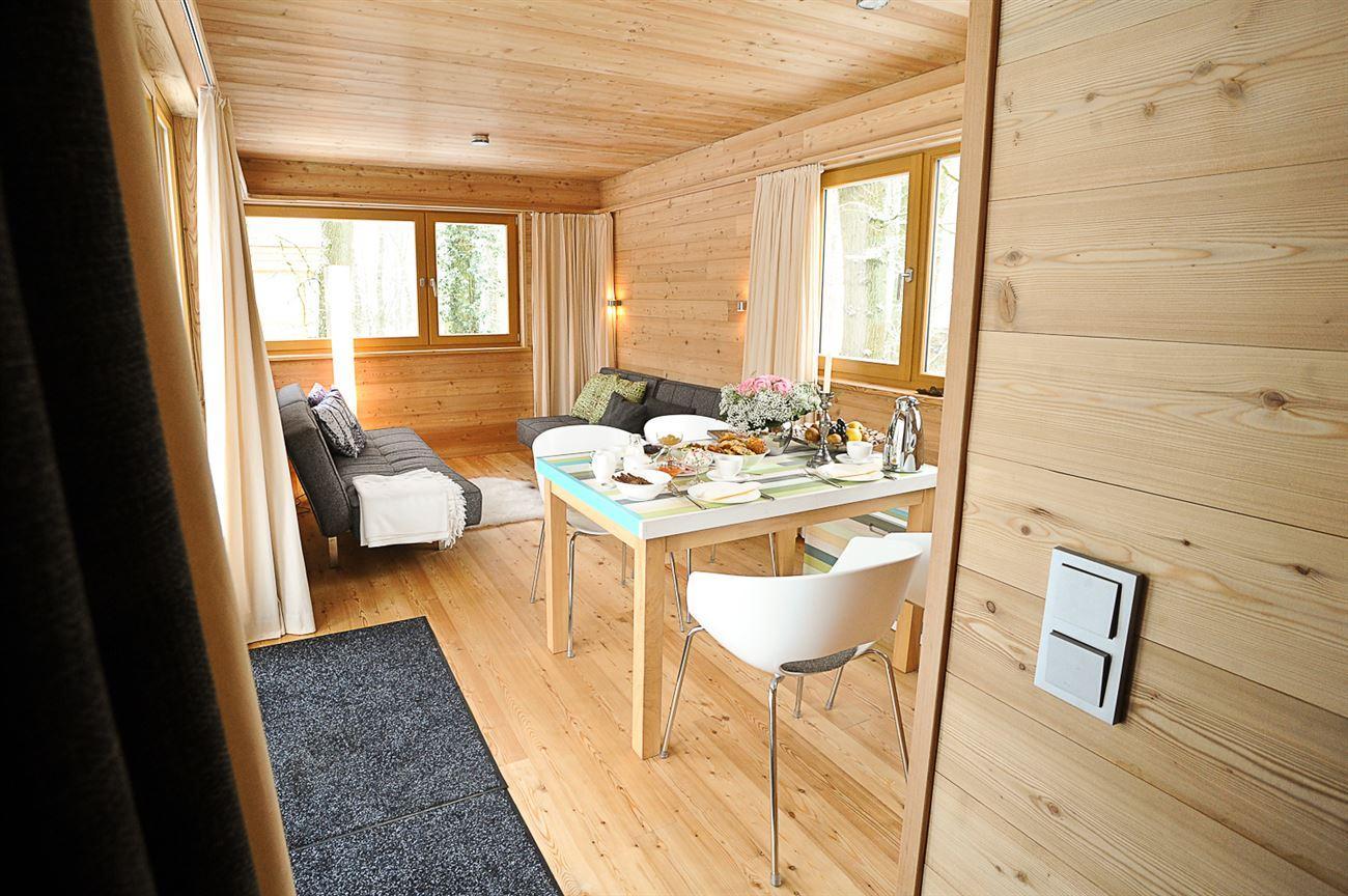 bright wooden living room