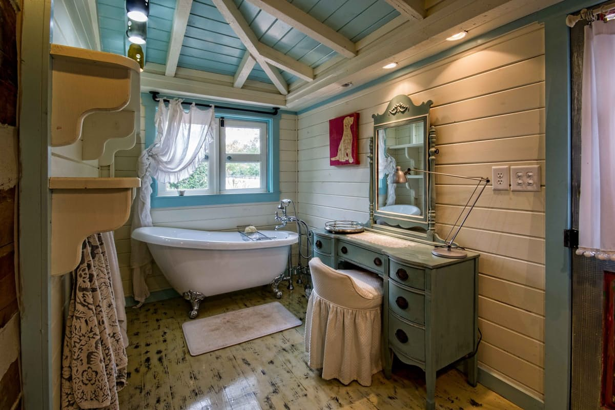 cute wooden bathroom