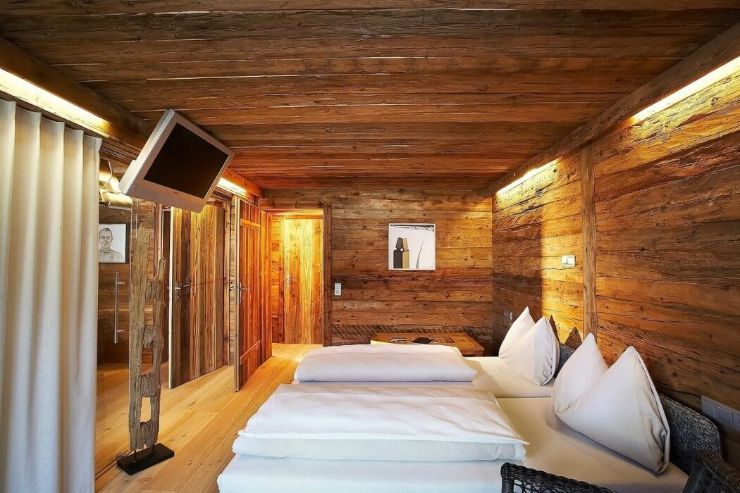 cozy wood wall, ceiling and floor ideas, bedroom design