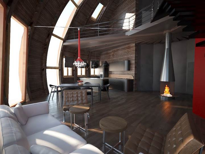 The Dome house interior