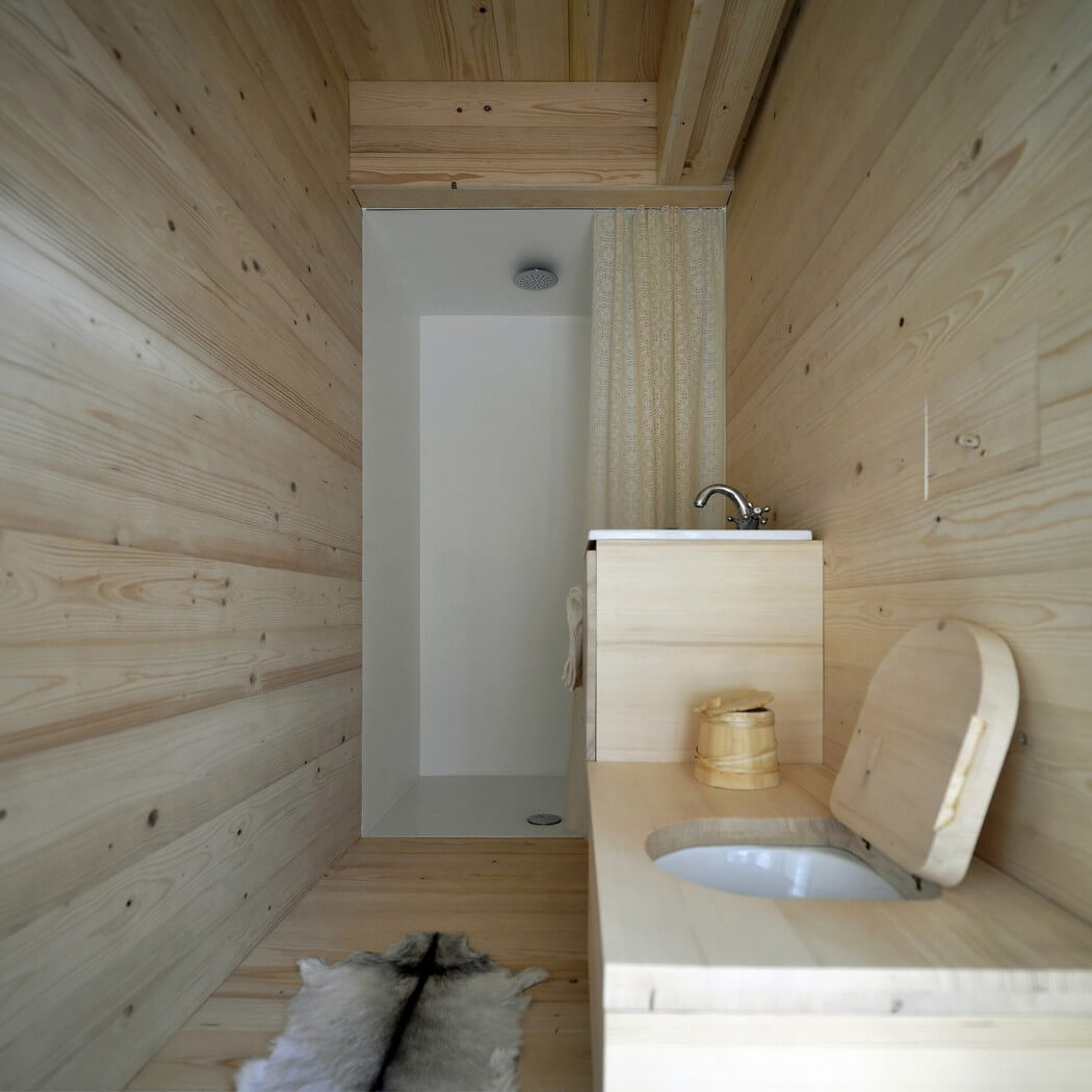 wood sink, toilet, wooden floor, wall and ceiling, bathroom design ideas