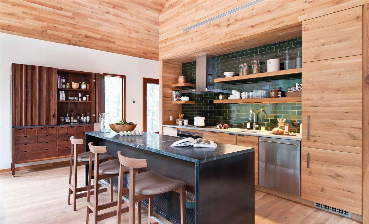 wood kitchen element, wooden cabinet, wall and floor design ideas