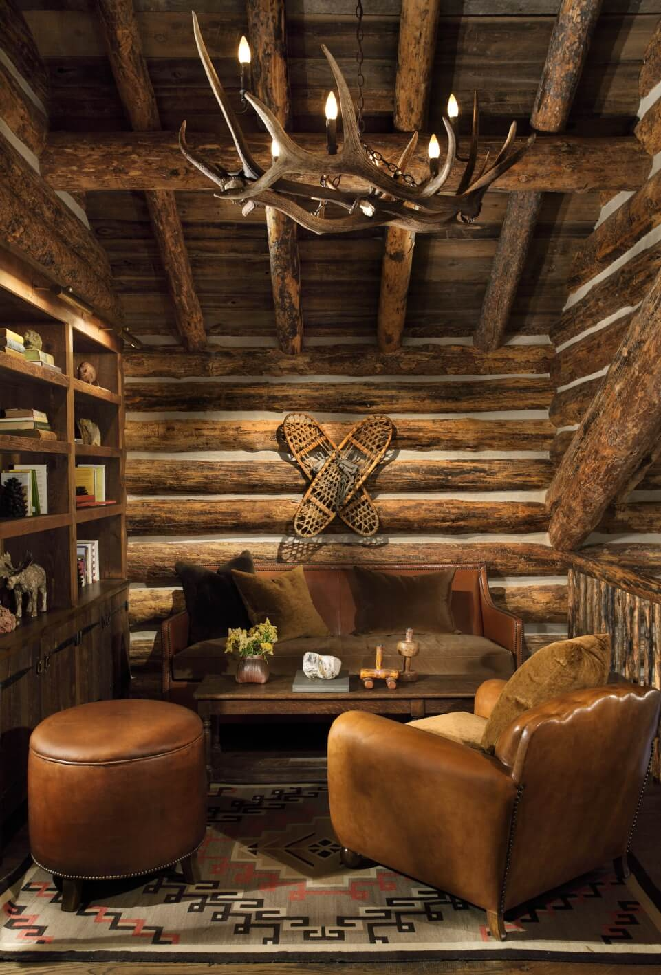 wood wall, ceiling and book shelf, wooden table design ideas, living room