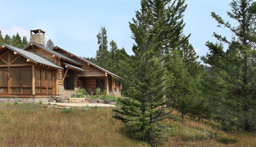 wood log house, lodge design ideas