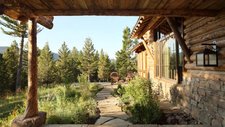 A family lodge set in a secluded location surrounded by forest service in Montana. This home is completely off the ...
