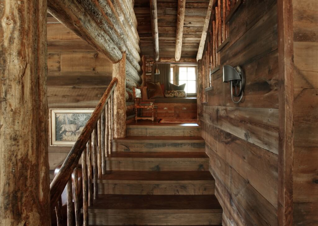 wood stairs, wall and ceiling design ideas
