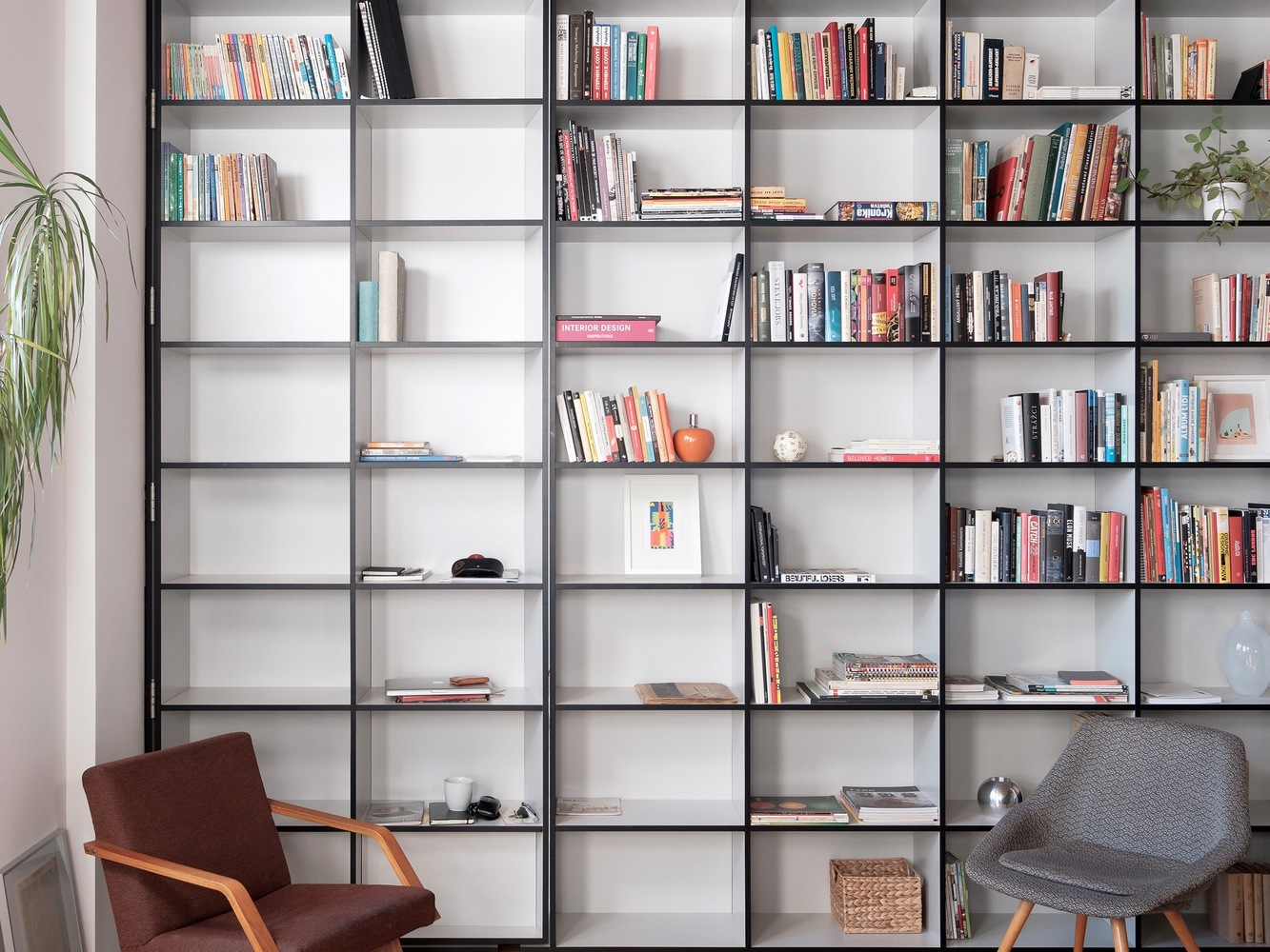 book shelf and chair design ideas