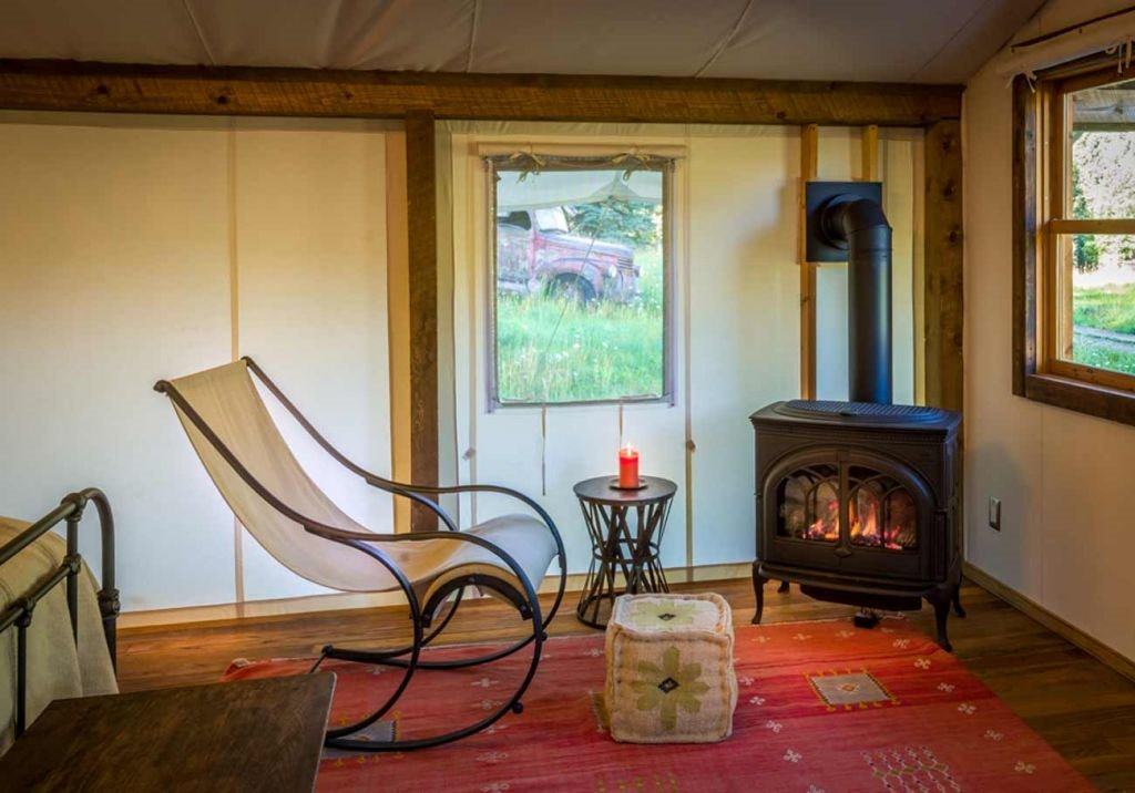 Christy's tent interior