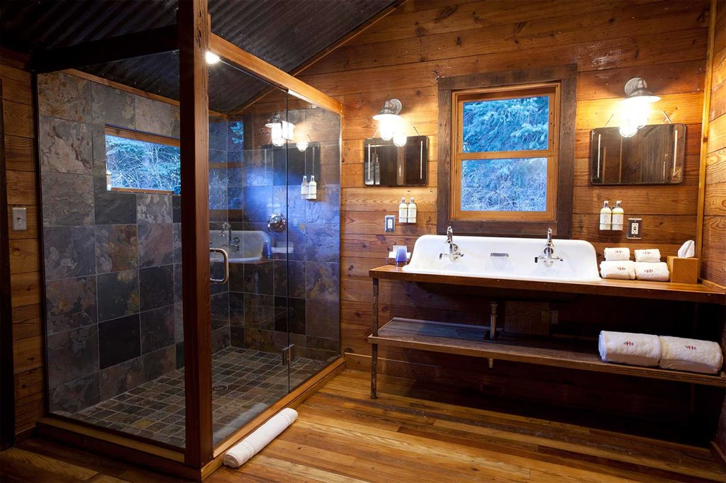 Bathroom in Christy's tent
