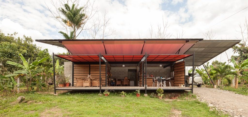 This tropical-inspired cabin is located in central Costa Rica. Due to the tropical environment the building is slightly raised and ...