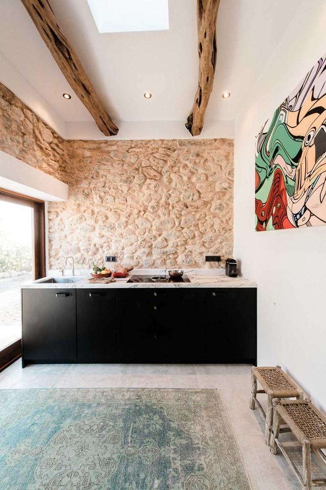 wood beam and footstool design ideas, kitchen decoration