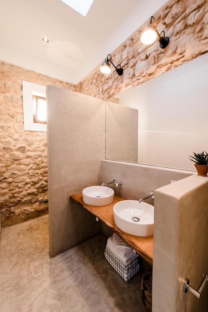 wood sink table design ideas, bathroom decoration