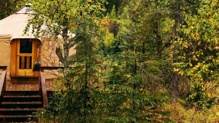 A sixteen-foot yurts Toba's and Spirit Walker are lovely two accommodations located an hour and a half south of Anchorage, ...