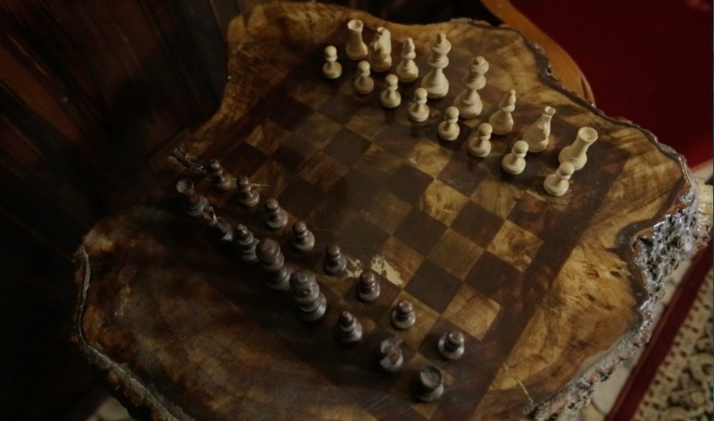 Wolfe's Hobbit Home Interior - chess game