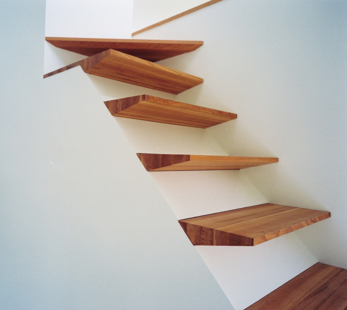 modern wood stairs design ideas