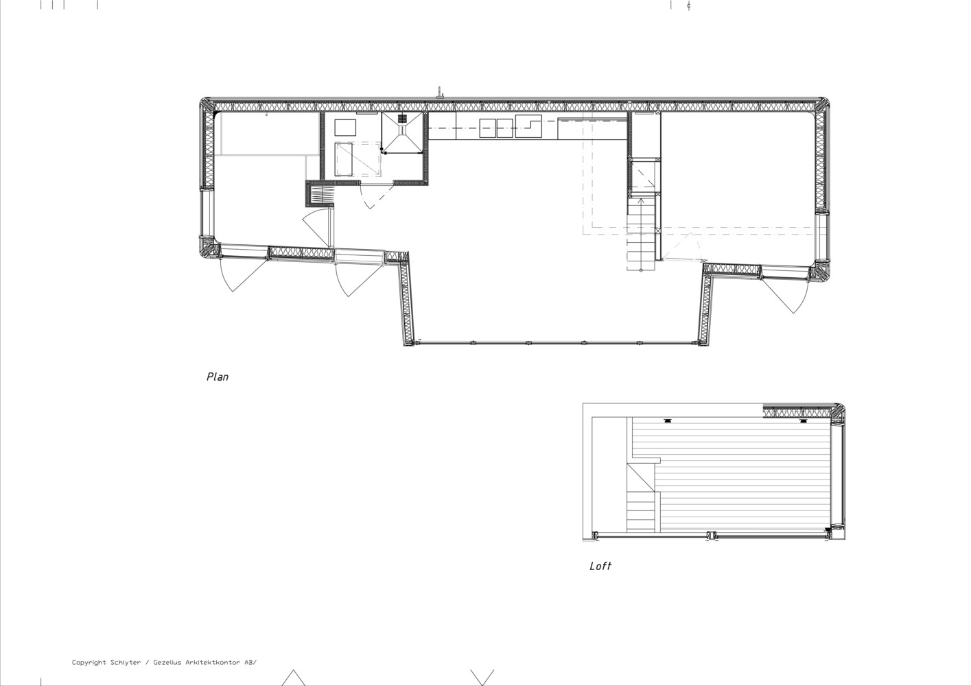 wood house plan