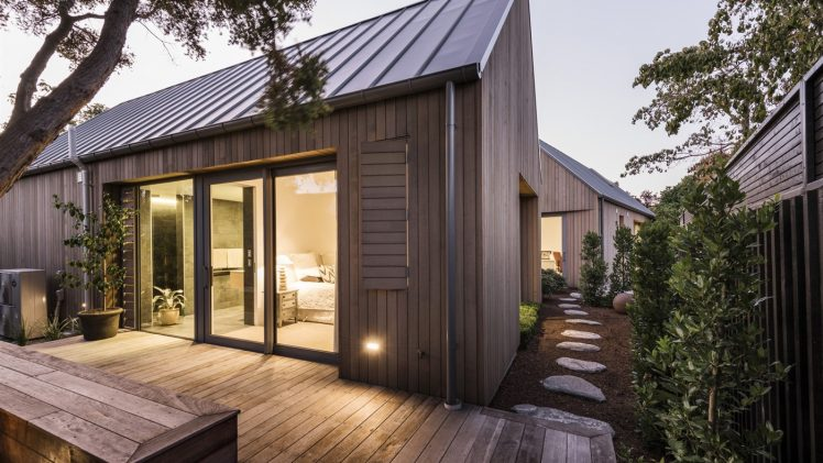 Christchurch house is comprised of four interconnected buildings, creating a series of courtyard spaces between each dwelling. Each of the ...