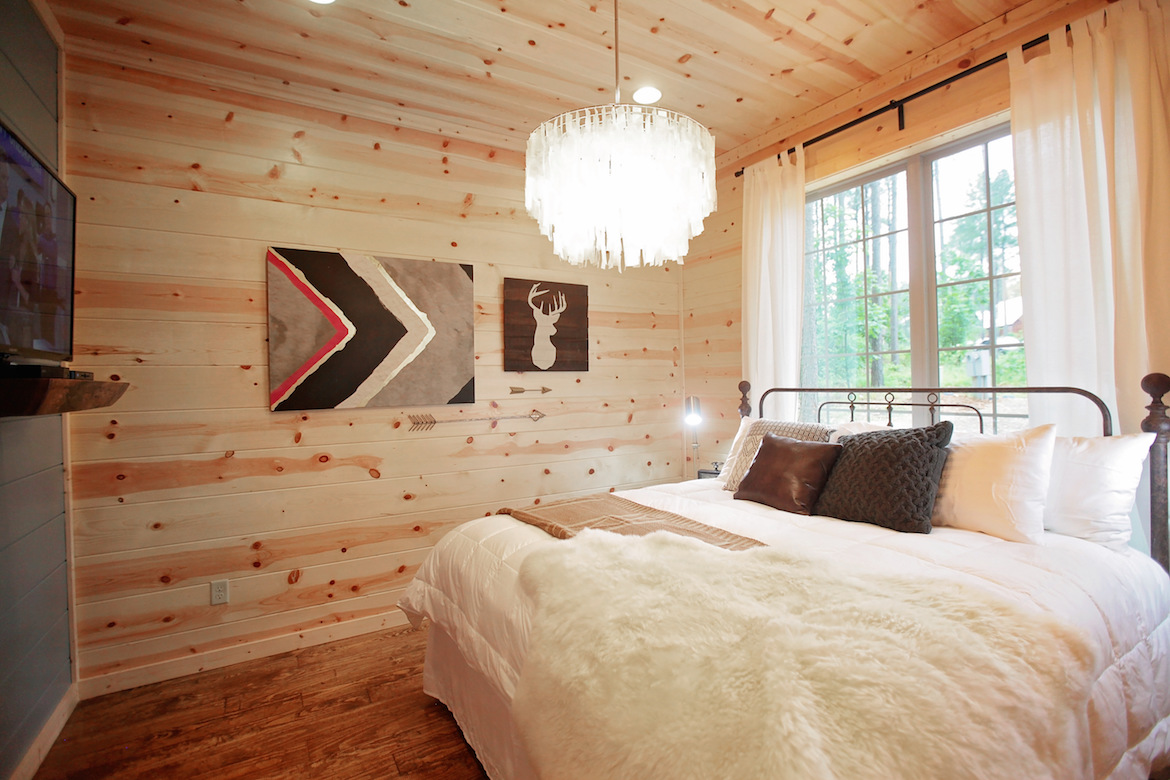 wood wall floor and ceiling, bedroom design ideas