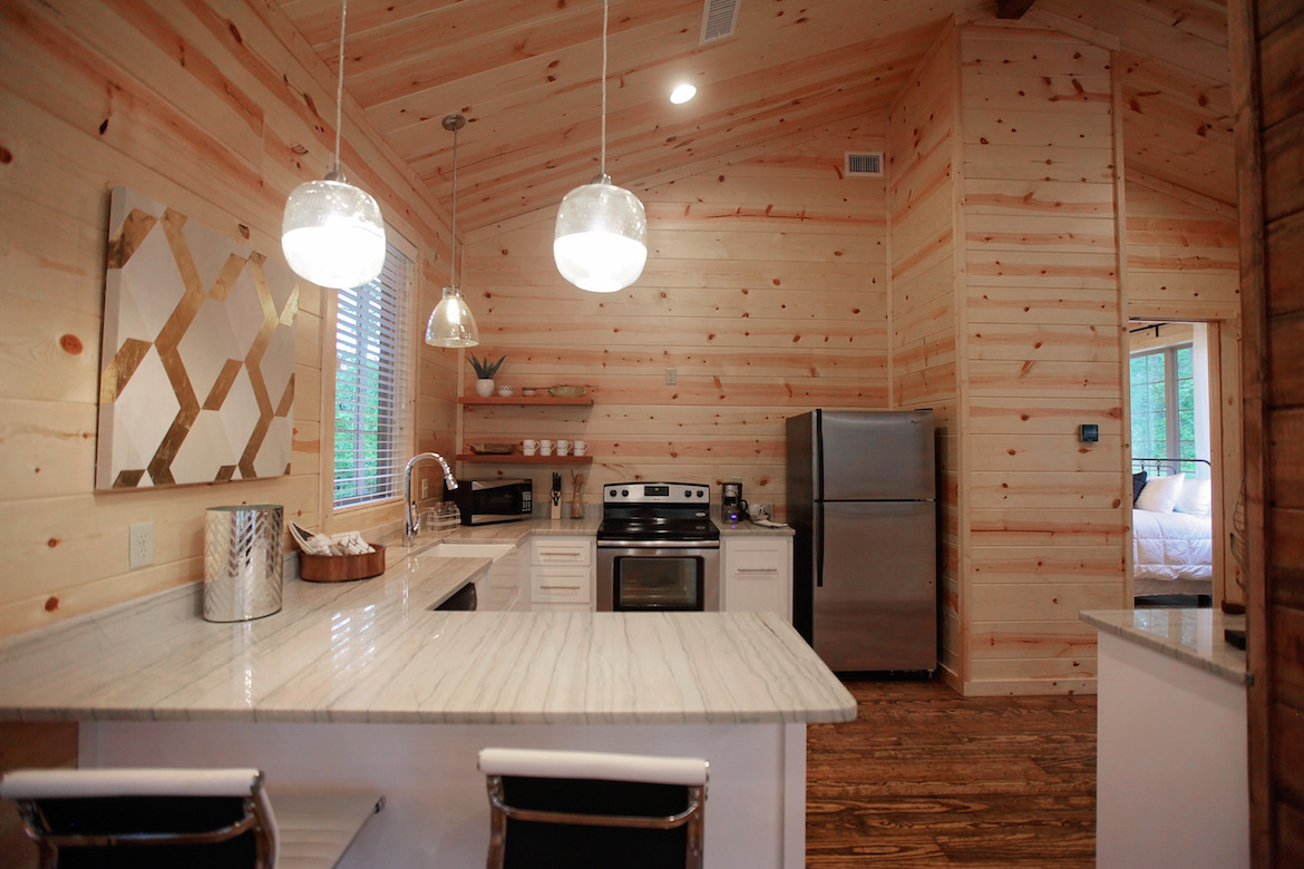 wood floor, wall and ceiling, kitchen design ideas