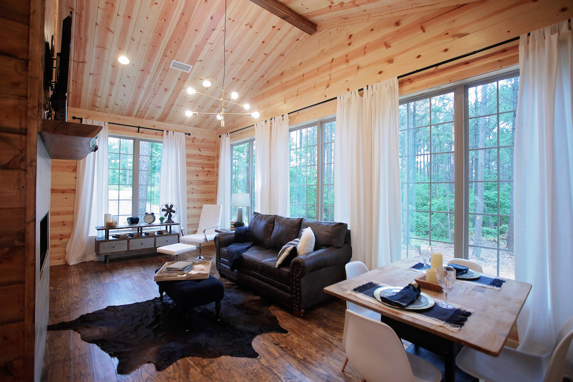wood floor, wall and ceiling, living room design ideas