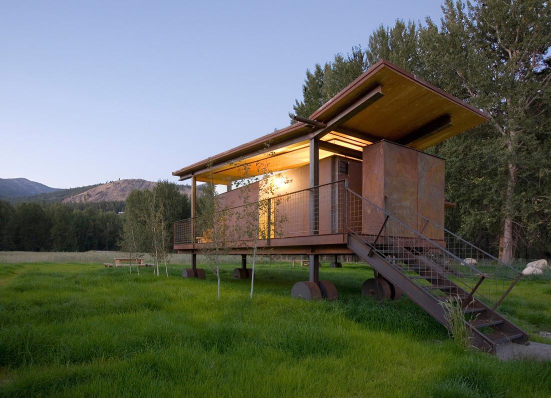 wood rolling hut design ideas