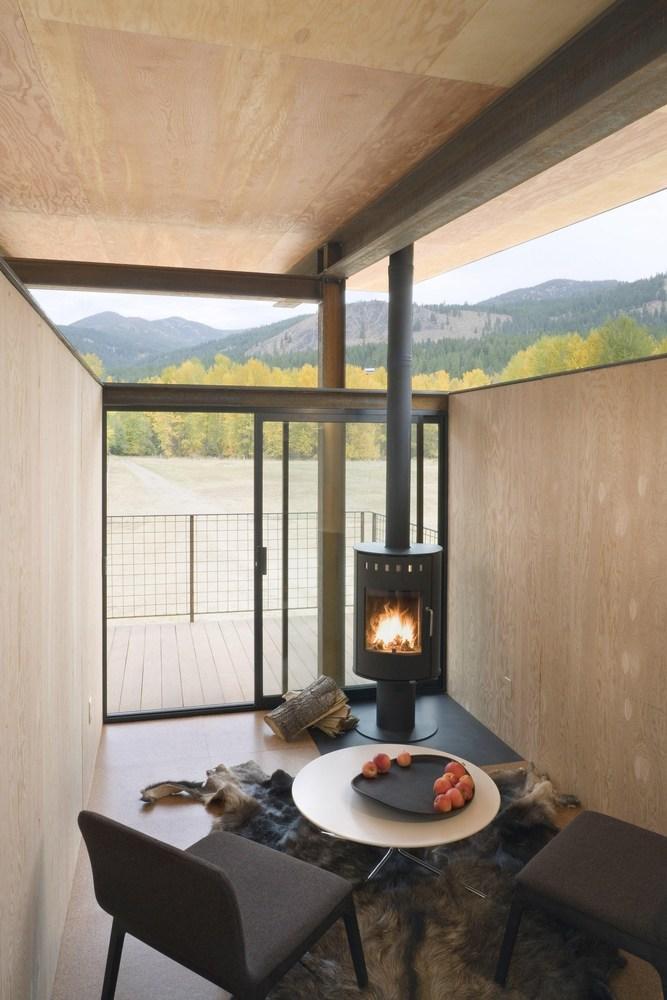 wood fireplace, interior design ideas