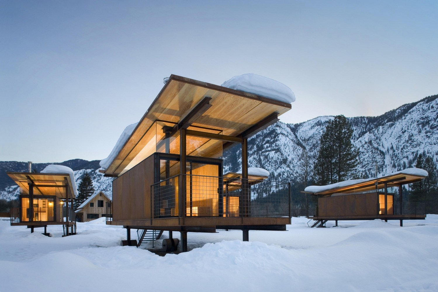 cozy wood hut design ideas