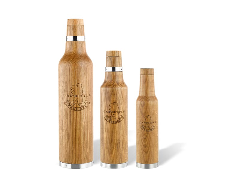 Oak Bottle, an oaking vessel that accelerates the oak ageing process and allows anyone to infuse extravagant aromas and flavors ...