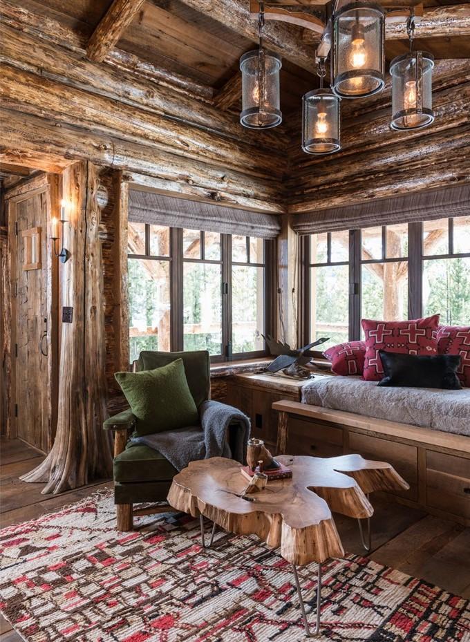 wood living room, cabin design ideas