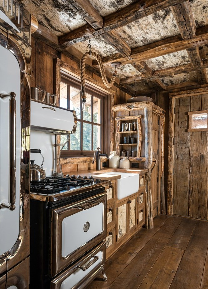 wood kitchen design ideas, cabin