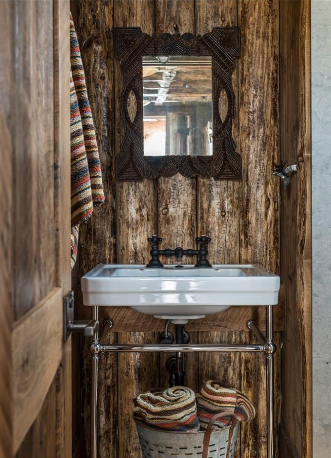 wood bathroom design ideas, cabin