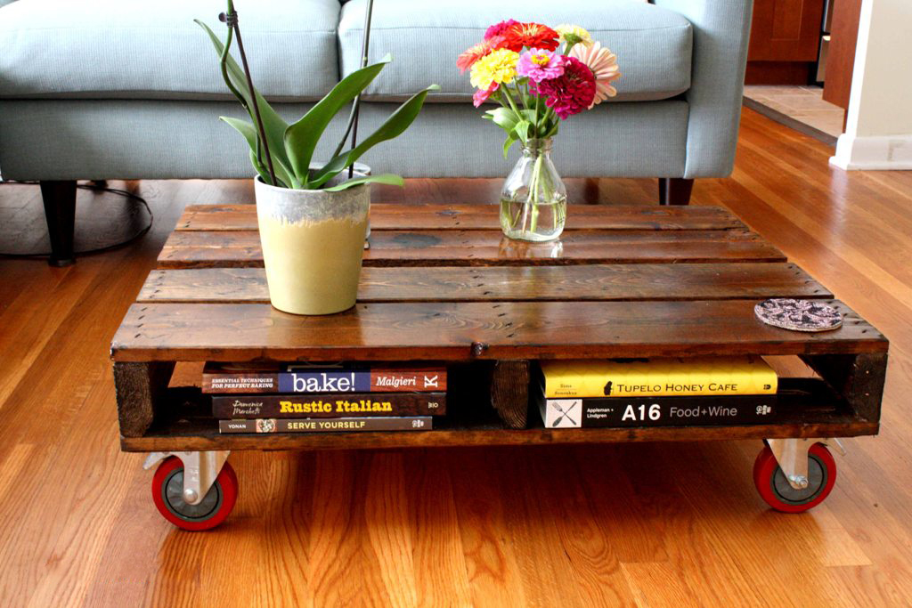 Combine your favourite pallet ideas with options you have in your apartment and add a little rustic feeling to your ...