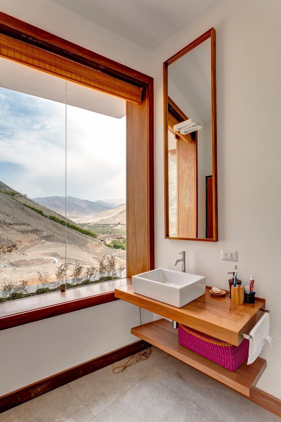 wood shelf design ideas, bathroom
