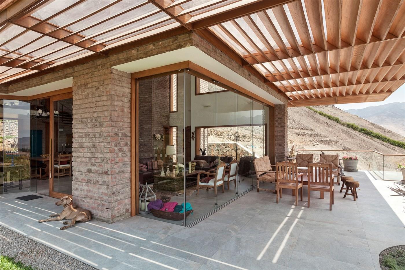 wood terrace shades design ideas
