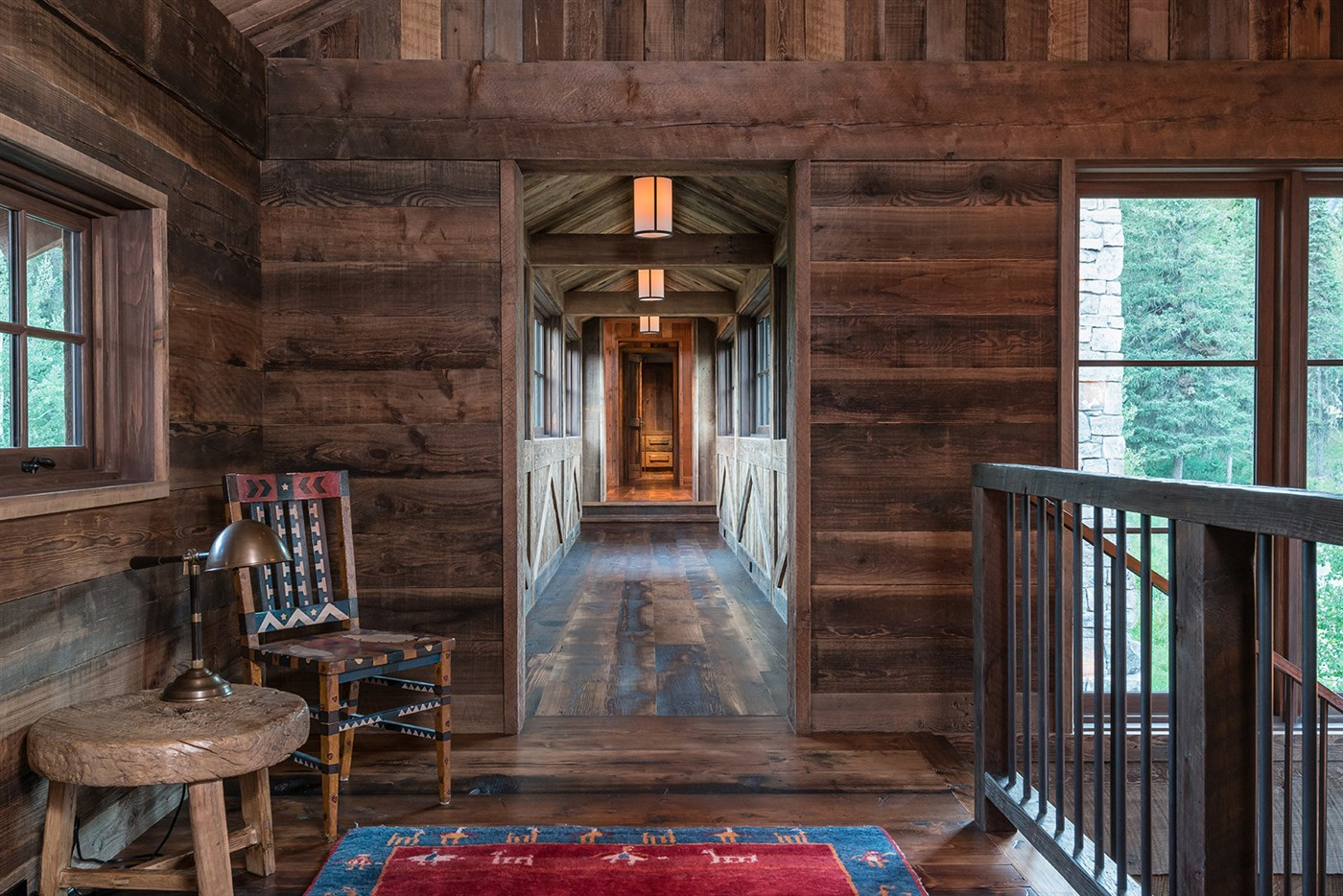 wood hallway design ideas