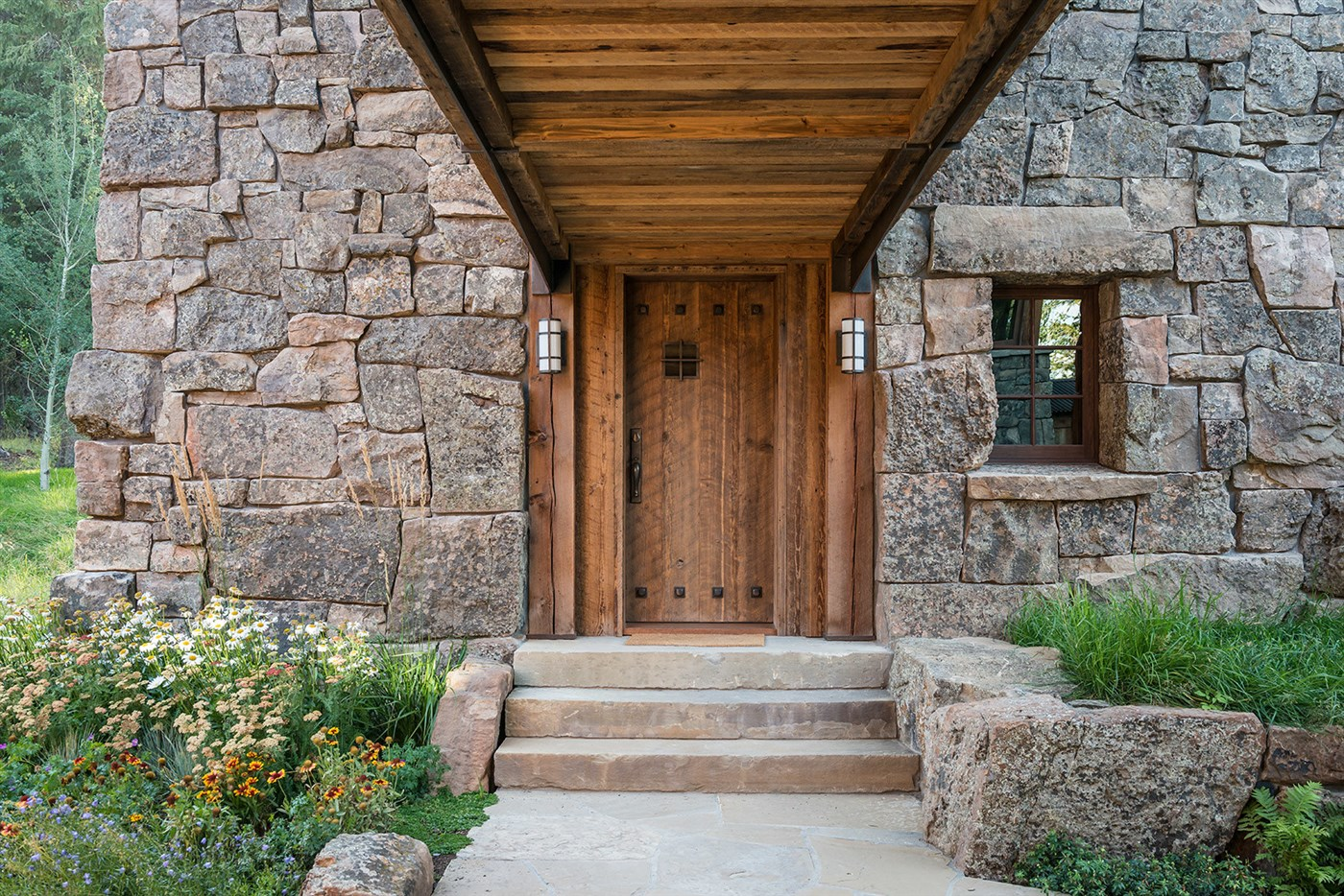 wood entrance design ideas